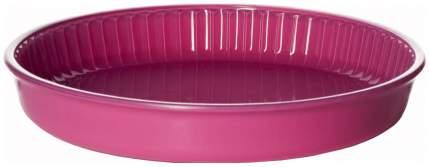 Посуда для СВЧ круглая 32 см, стекло (розовый) 59014P