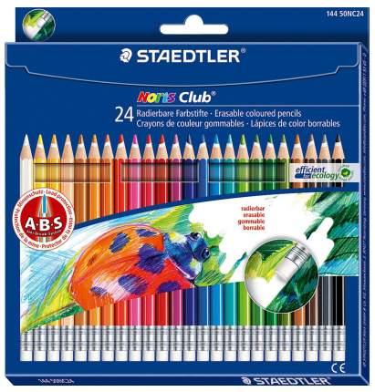 Карандаши цветные NorisClub с ластиком 24 цв. Staedtler