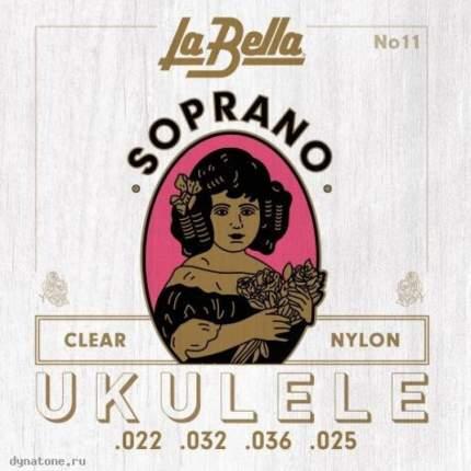 Струны для укулеле сопрано LA BELLA 11