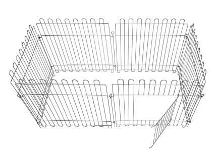 Вольер для собак Dog Land оцинкованный, размер секции 60х55 см, 8 секций