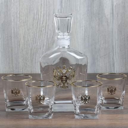 Набор  для виски со  штофом Герб + 4 бокала для виски/Город Подарков/050203222