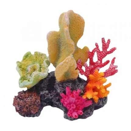 Искусственный коралл Fauna International Кораллы на рифе, разноцветный, 10х11х7.5 см