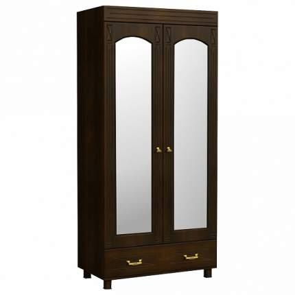 Платяной шкаф Компасс-мебель Элизабет ЭМ-16 KOM_EM16_2 100x54x215, орех темный