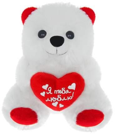 """Мягкая игрушка """"Мишка с сердцем"""" - Я тебя люблю, 17 см Sima-Land"""