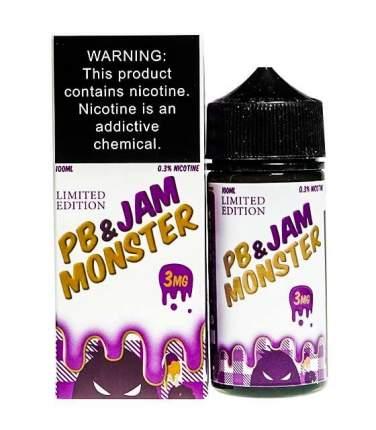 Жидкость Jam Monster PB & Jam Grape 3 мг