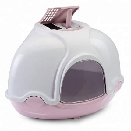 Туалет для кошек IMAC Ginger, угловой, розовый, белый, 50х50х44,5 см