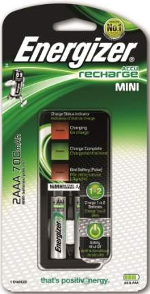Зарядное устройство + аккумуляторы Energizer Mini Charger AAA 2 шт. 700 mAh