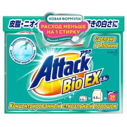 Концентрированный стиральный порошок Attack BioEX универсальный 0.9 кг
