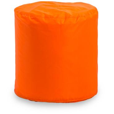 Пуф бескаркасный ПуффБери Цилиндр Оксфорд, размер S, оксфорд, оранжевый
