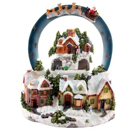 Шар на ель Подарки и сувениры Сказочный город с подсветкой музыкальный 12 см
