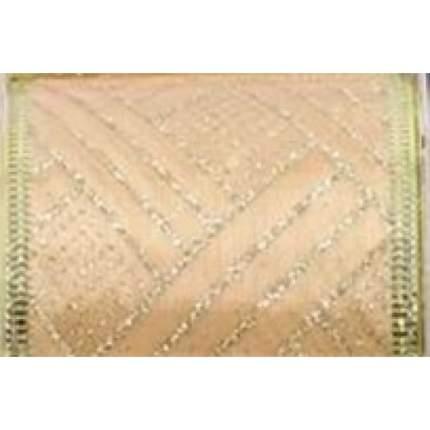 Лента декоративная Феникс Present золотые полосы, 6,3x270 см