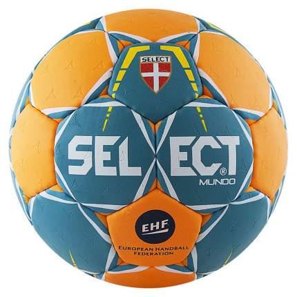 Мяч гандбольный Select Mundo, 2, зеленый/оранжевый