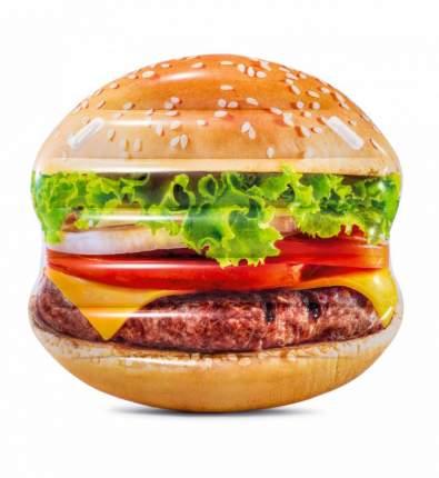Надувной матрас Intex hamburger island 58780 145х142см