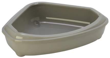 Лоток для кошек MODERNA Corner Tray с высоким бортом, серый, 55 х 45 х 13 см