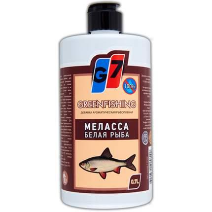 Добавка жидкая G7 Меласса для ловли белой рыбы, 0,7 л, кофейный бисквит