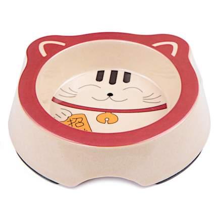 Миска для домашних животных Bobo, из бамбука, красный, 260 мл