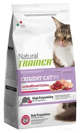 Сухой корм для кошек TRAINER Natural Exigent Cat, для привередливых, говядина,курица,1,5кг