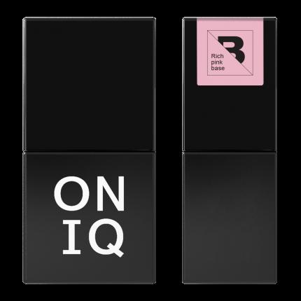 Гель-лак Oniq Базовое покрытие Rich pink base 10 мл