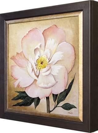 """Ключница """"Большой розовый цветок"""" Венге"""