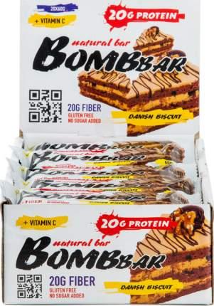 Протеиновый батончик Bombbar Natural Bar 20 шт x 60 г датский бисквит