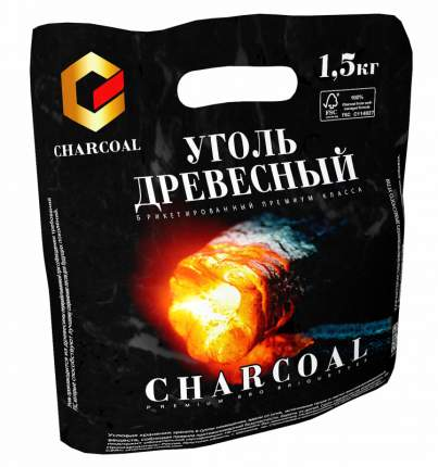 Брикеты для гриля Charcoal 1,5 кг