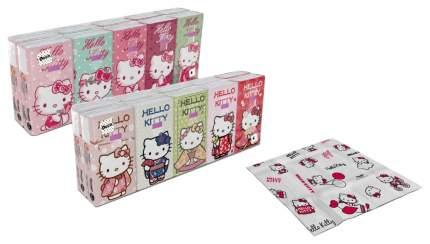 Бумажные платки World Cart Hello Kitty 4-х слойные, 10 пачек, 90 листов, 21х21 см, 238 г