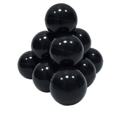 Шарики в наборе для игрового бассейна 50 шт, диам 7см, черные