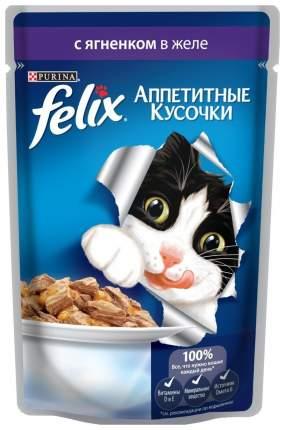 Влажный корм для кошек Felix Sensation, ягненок, 24шт, 85г