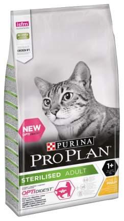 Сухой корм для кошек PRO PLAN Sterilised, для стерилизованных, курица, 10кг