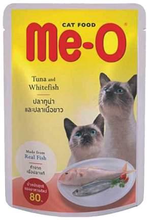 Влажный корм для кошек Me-O тунец и белая рыба, 12шт, 80 г