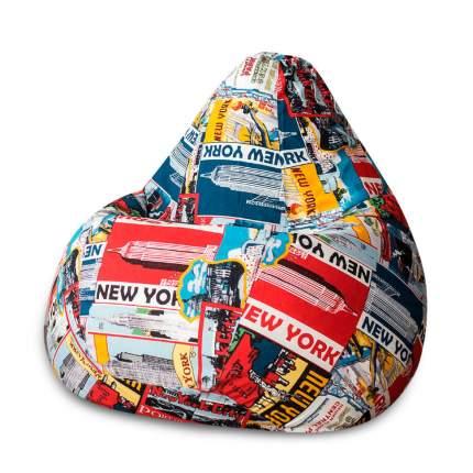 Кресло-мешок DreamBag New York II, размер XL, жаккард, разноцветный