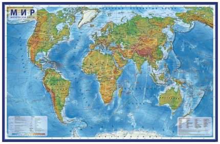 Физическая карта Globen Мир 1:29М