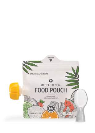 Пакеты для хранения детского питания Happy Baby FOOD POUCH 3 шт. с ложкой-накруткой