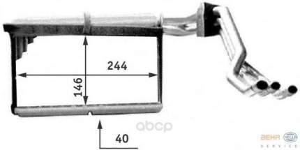 Теплообменник, отопление салона легковой автомобиль Hella 8FH351312-771