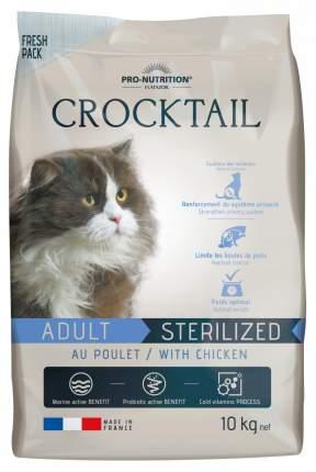 Сухой корм для кошек Flatazor Crocktail Sterelized, для стерилизованных, курица, 10кг