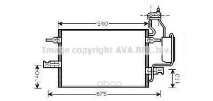 Pадиатор кондиционера Opel Meriva 03 Ava OL5349D