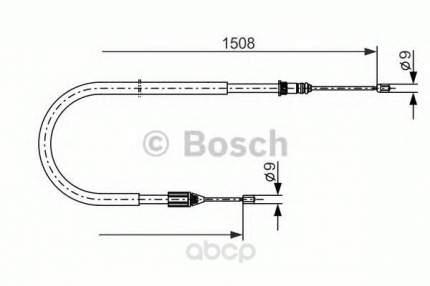 Трос cтояночного тормоза Bosch 1987477890