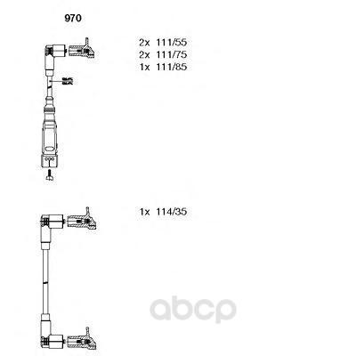 Комплект высоковольтных проводов BREMI 970