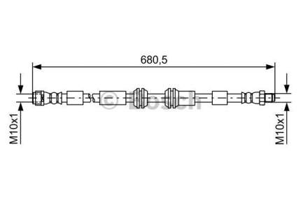 Шланг тормозной системы Bosch 1 987 481 734