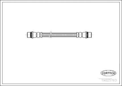 Шланг тормозной CORTECO 19025763