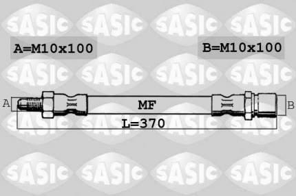 Шланг тормозной SASIC 6606182