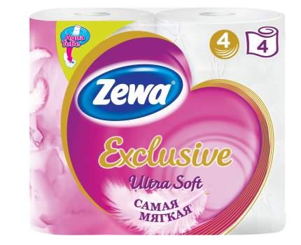 Туалетная бумага Zewa Exclusive Ultra Soft, 4 слоя, 4 рулона