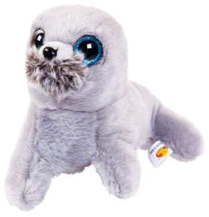 Мягкая игрушка ABtoys Тюлень, серый, 19 см