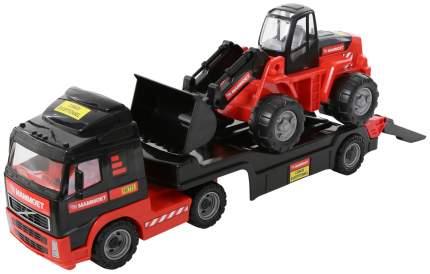 Машинка игрушечная Полесье Volvo Автомобиль-трейлер + трактор-погрузчик