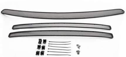 Сетка на бампер внешняя arbori для PeugeotTraveller 2017-, 3 шт., черная, 15 мм