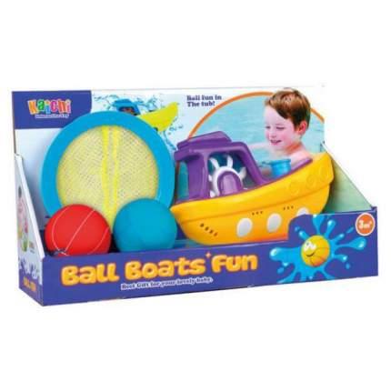 НАША ИГРУШКА Набор для купания Веселая лодочка, 4 предмета 100991703