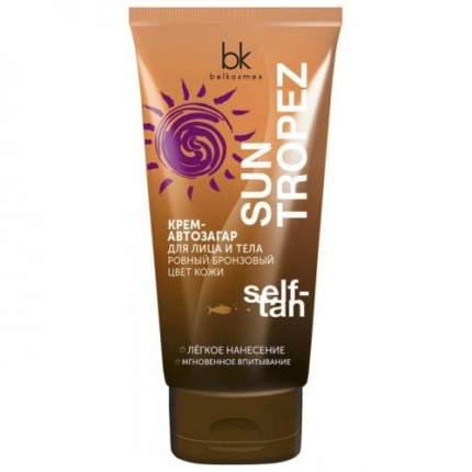 Крем-автозагар для лица и тела ровный бронзовый цвет кожи BelKosmex Sun Tropez 150 г