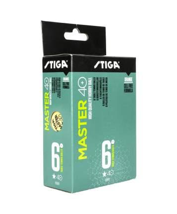 Мячи для настольного тенниса Stiga 1* Master ABS оранжевые, 6 шт.