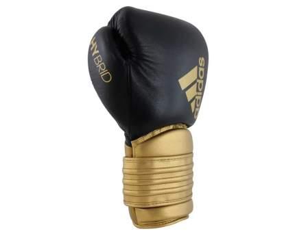 Боксерские перчатки Adidas Hybrid 300 черные/золотые 12 унций