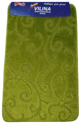 Набор ковриков для ванной Вилина Классик 012CLV 50х80 см, 50x40см Зеленый